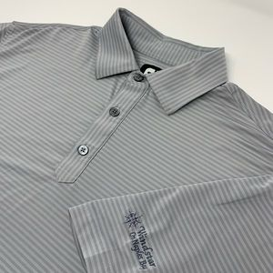 Footjoy Short Sleeve Gray Striped Polo